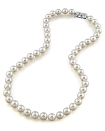 7.5-8.0mm Japanese Akoya White Pearl Necklace- AAA Quality