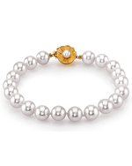 8-9mm White South Sea Pearl Bracelet - AAAA Quality - Model Image