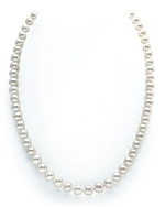 7-8mm White Freshwater Pearl Necklace