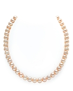 7-8mm Peach Freshwater Pearl Necklace