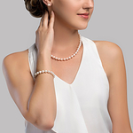 8-9mm Freshwater Pearl Necklace, Bracelet & Earrings - Secondary Image