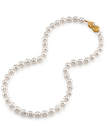 8.0-8.5mm Hanadama Akoya White Pearl Necklace - Secondary Image
