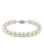 8.0-8.5mm Akoya White Pearl Bracelet- Choose Your Quality