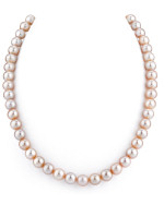 8-9mm Pink Freshwater Pearl Necklace - AAAA Quality