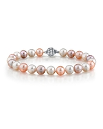 8-9mm Multicolor Freshwater Pearl Bracelet - AAAA Quality