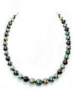 9-11mm Tahitian South Sea Multicolor Pearl Necklace