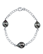 Tahitian South Sea Baroque Pearl Tincup Bracelet