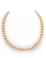 9-10mm Peach Freshwater Pearl Necklace