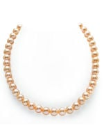 7-8mm Peach Freshwater Pearl Necklace - AAAA Quality