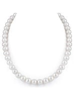 9-10mm White Freshwater Pearl Necklace - AAAA Quality