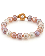 9-10mm Multicolor Freshwater Pearl Bracelet - AAAA Quality - Secondary Image