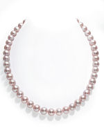 9-10mm Pink Freshwater Pearl Necklace - AAAA Quality