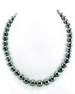 9-10mm Green Tahitian South Sea Pearl Necklace