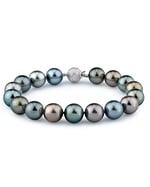 9-10mm Tahitian South Sea Multicolor Pearl Bracelet - AAAA Quality