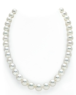 CERTIFIED 9-11mm White South Sea Pearl Necklace - AAAA Quality