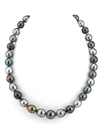9-11mm Tahitian South Sea Multicolor Baroque-Shape Pearl Necklace