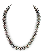 9-11mm Peacock Tahitian South Sea Pearl Necklace - AAAA Quality