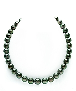 9-11mm Peacock Green Pearl Necklace- AAAA Quality