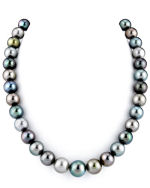 9-12mm Tahitian South Sea Multicolor Pearl Necklace - AAAA Quality
