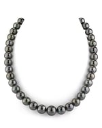 9-12mm Black Tahitian South Sea Pearl Necklace- AAAA Quality