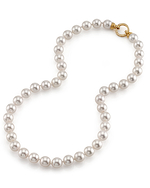 9.5-10mm Hanadama Akoya White Pearl Necklace - Secondary Image