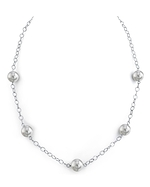 9-10mm South Sea Pearl Tincup Necklace