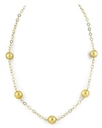 9-10mm Golden South Sea Pearl Tincup Necklace