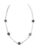 9-10mm Tahitian South Sea Multicolor Pearl Tincup Necklace