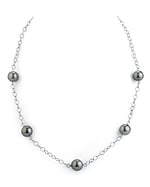 9-10mm Tahitian South Sea Pearl Tincup Necklace