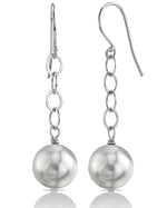 South Sea Pearl Dangling Tincup Earrings