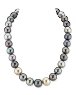 CERTIFIED 13-15mm South Sea Multicolor Necklace- AAAA Quality