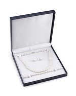 8-9mm Freshwater Pearl Necklace, Bracelet & Earrings - Fourth Image