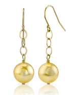 Golden Pearl Dangling Tincup Earrings