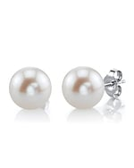 10mm White Freshwater Pearl Stud Earrings
