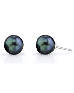 Free Matching Akoya Black Pearl Earrings