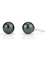 Free Matching Tahitian South Sea Pearl Stud Earrings-AAAA Quality
