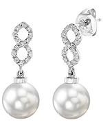 White South Sea Pearl & Diamond Harper Earrings