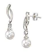 White South Sea Pearl & Diamond Madison Earrings