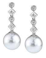 South Sea Pearl & Diamond Julia Earrings