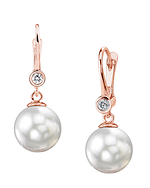 South Sea Pearl & Diamond Michelle Earrings - Secondary Image