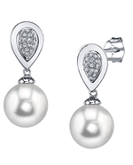South Sea Pearl & Diamond Alexandra Earrings