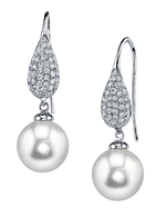South Sea Pearl & Diamond Brooklyn Earrings