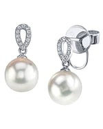 South Sea Pearl & Diamond Callie Earrings