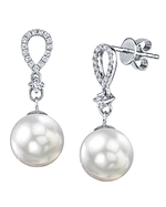 White South Sea Pearl & Diamond Celise Earrings
