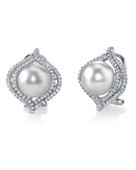 South Sea Pearl & Diamond Clara Earrings