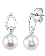 White South Sea Pearl & Diamond Lisa Earrings