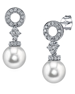 South Sea Pearl & Diamond Vanessa Earrings