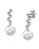 White South Sea Pearl & Diamond Wendy Earrings