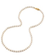 5.0-5.5mm Japanese Akoya White Pearl Necklace - AAA Quality - Third Image