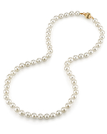 6.5-7.0mm Japanese Akoya White Pearl Necklace- AAA Quality - Secondary Image